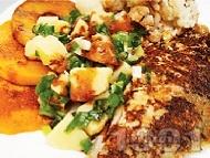 Рецепта Панирана маслена риба в пшеничен грис със соев сос